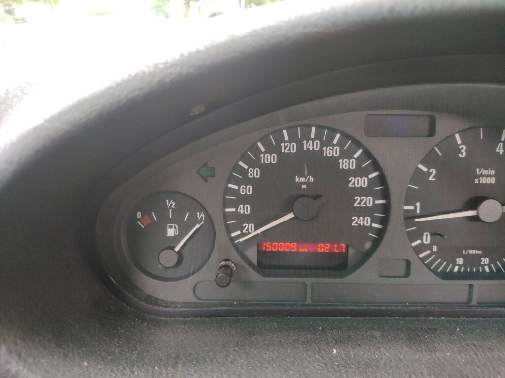 BMW E36 TC 4 BAUR Kilometerstand