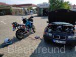 BMW E36 Baur TC4 mit 1994 Honda Transalp